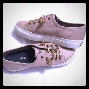 Sperry Seacoast medium sparkle pink Sneakers 👟